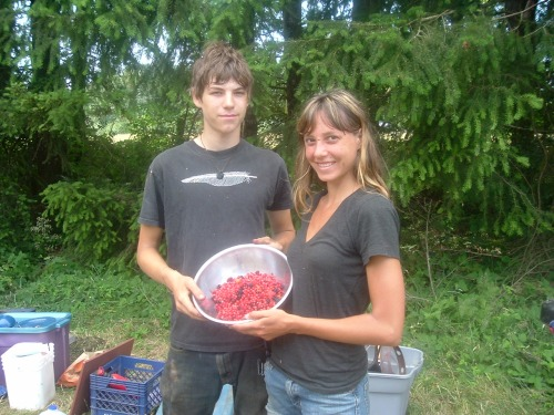 Emily and Joe with Huckleberry, Thimbleberry, and Salmonberry